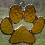 Dog Paw Suncatcher