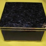 Purple Jewelry Box 5 x 5 (Front view closed)