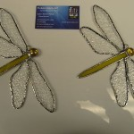 Dragonfly Yellow Medium Suncatcher