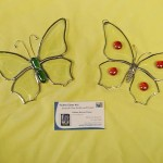 "Beveled Butterfly Suncatchers - approx. 5"" x 5"". $25.00"