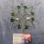"Bevel Star Cluster with Jewels Suncatcher 6"" x 5.5"" - $25.00"