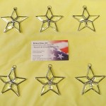 "Beveled Star Suncatchers - approx. 2.5"" x 2.5"". $9.00"