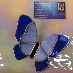 """Final Hope Caring Place Butterfly Suncatcher approx. 5"""" x 4.5"""" - Cleaned and Waxed"""