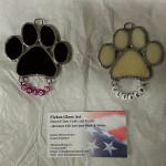 Two Dog Paws Suncatcher Commissioned $12