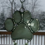 "Small Dog Suncatcher 2.75"" x 2.75"" - $12.00; With name beads - -$13.00"