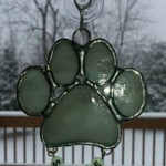 """Small Dog Suncatcher 2.75"""" x 2.75"""" - $12.00; With name beads - -$13.00"""